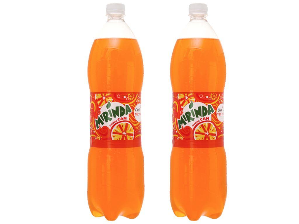 Combo 2 chai nước ngọt Mirinda vị cam 1.5 lít 1