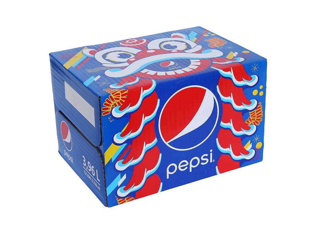 Thùng 12 lon nước ngọt Pepsi Cola 330ml 1