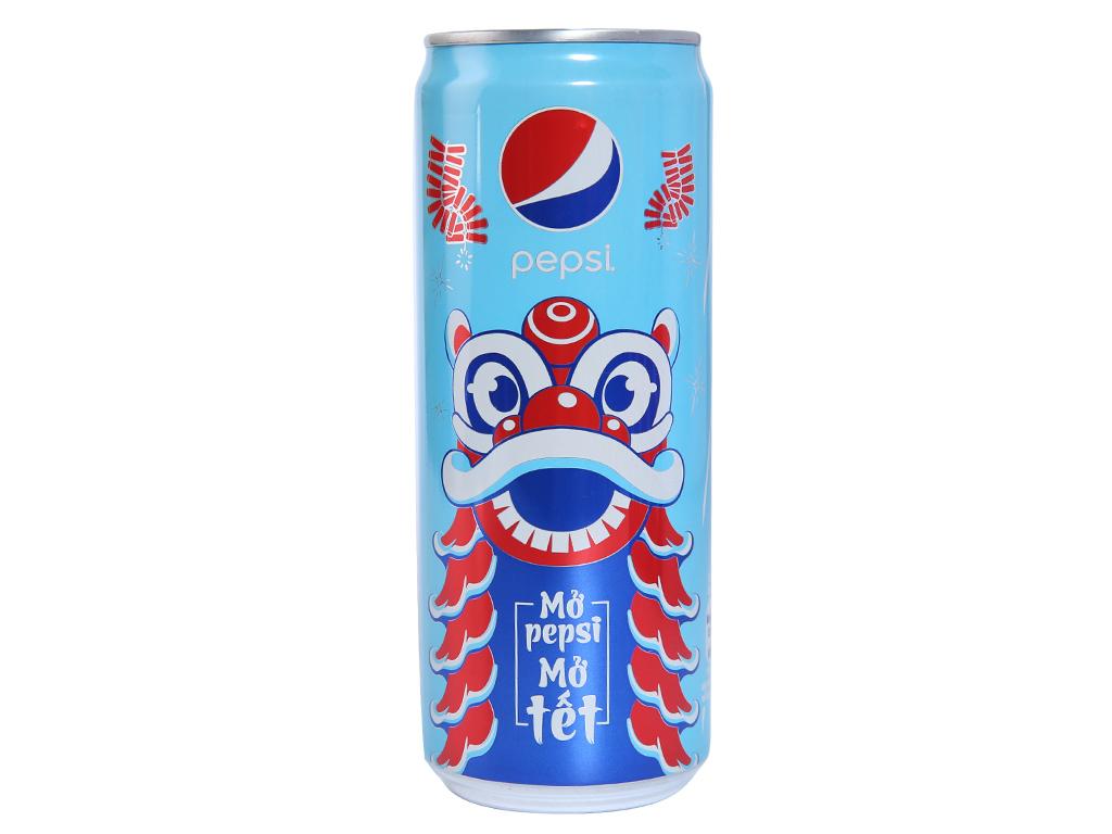 Thùng 12 lon nước ngọt Pepsi Cola 330ml 2