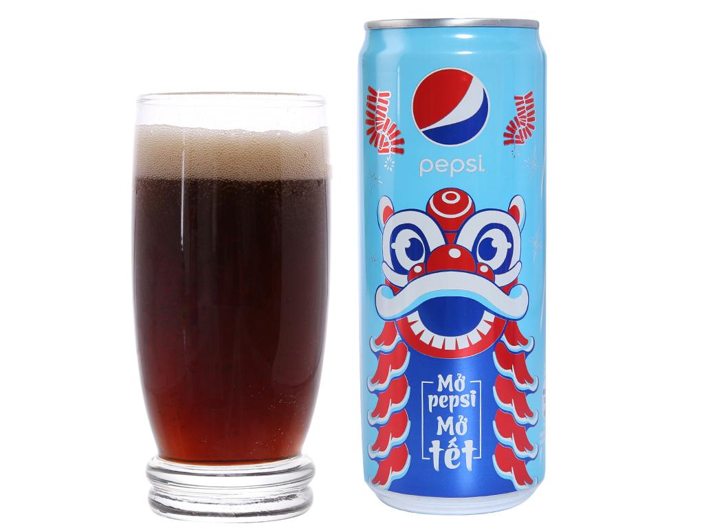 Thùng 12 lon nước ngọt Pepsi Cola 330ml 4