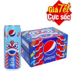 Thùng 12 lon Pepsi Cola 330ml