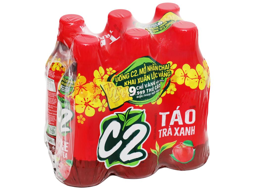 6 chai trà xanh C2 hương táo 360ml 8