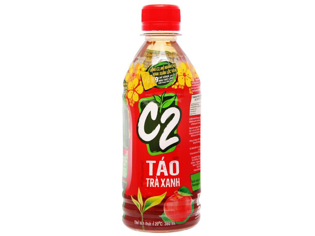 6 chai trà xanh C2 hương táo 360ml 9