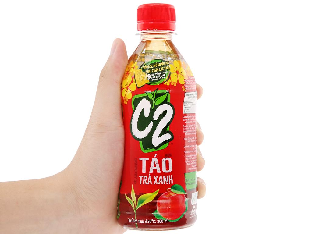 6 chai trà xanh C2 hương táo 360ml 14