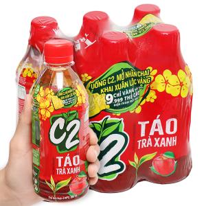 6 chai trà xanh C2 hương táo 360ml