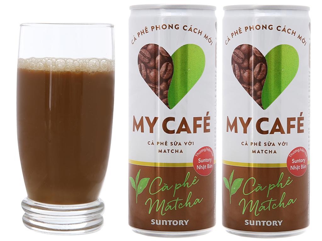 Combo 2 lon cà phê sữa matcha My Café 235ml 1