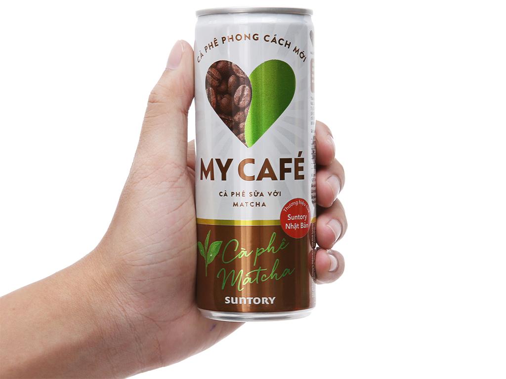 Combo 2 lon cà phê sữa matcha My Café 235ml 3