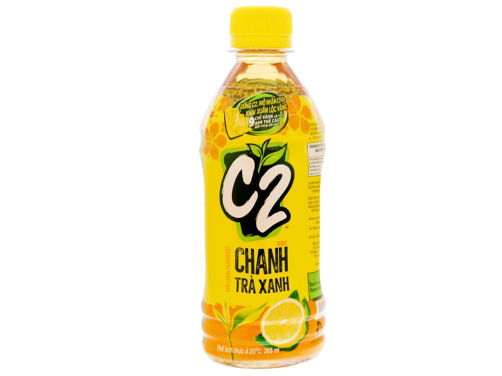 6 chai trà xanh C2 hương chanh 360ml 12