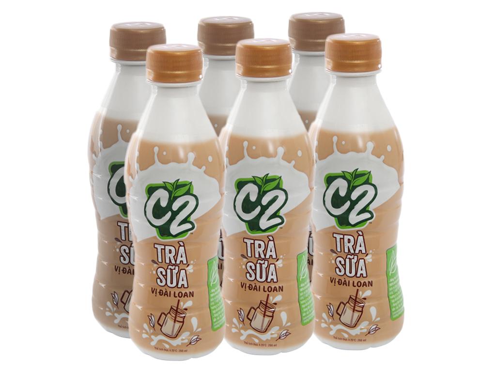 6 chai trà sữa C2 vị Đài Loan 260ml 1