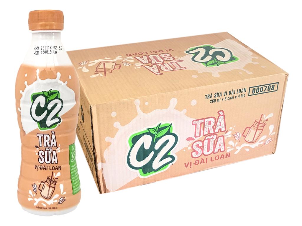 Thùng 24 chai trà sữa C2 vị Đài Loan 260ml 1