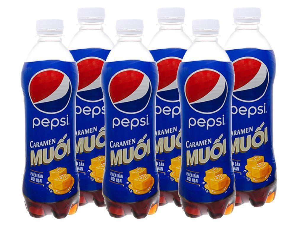6 chai nước ngọt Pepsi Caramen muối 390ml 1