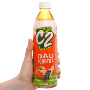 Hồng trà C2 vị đào 455ml