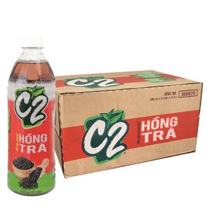 Thùng 24 chai hồng trà C2 500ml