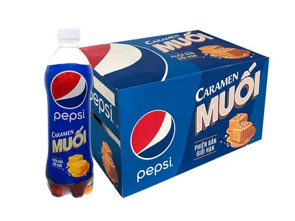 Thùng 24 chai nước ngọt Pepsi Caramen muối 390ml 1