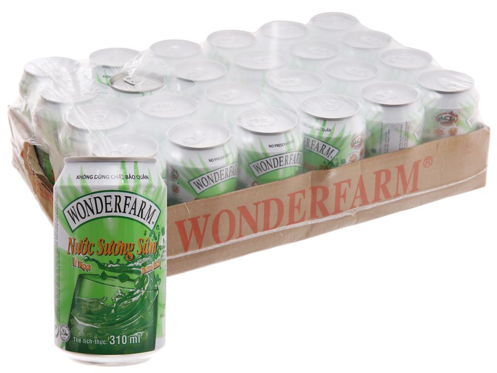 Thùng 24 lon nước sương sâm Wonderfarm 310ml 1