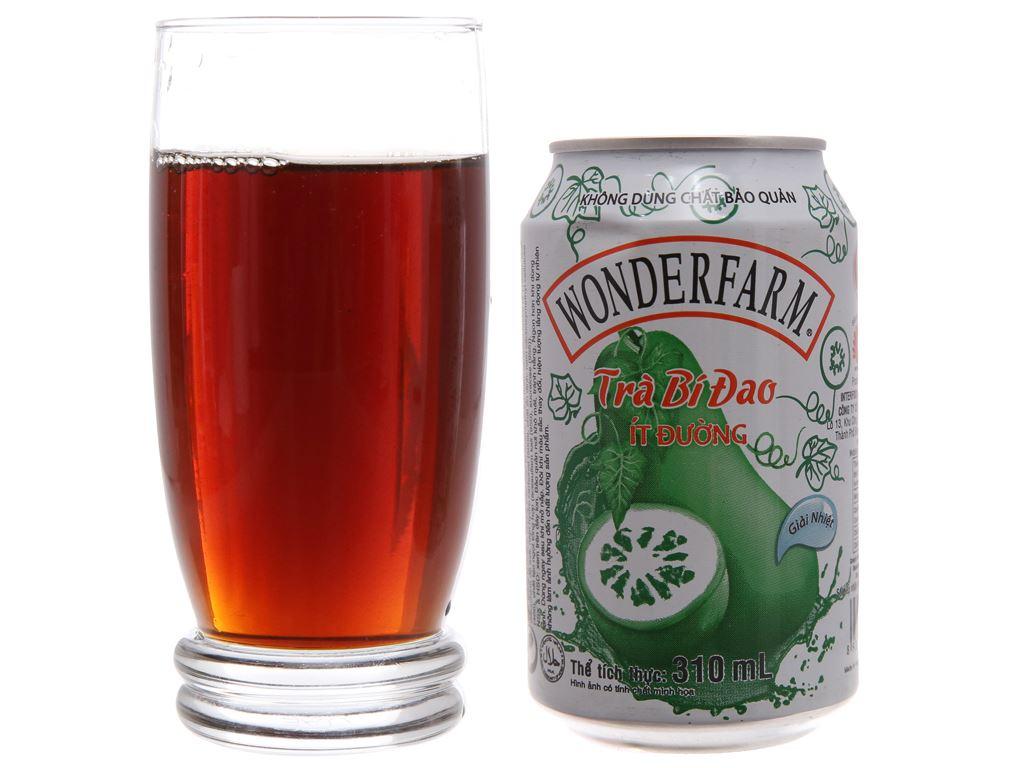 Thùng 24 lon trà bí đao Wonderfarm ít đường 310ml 3