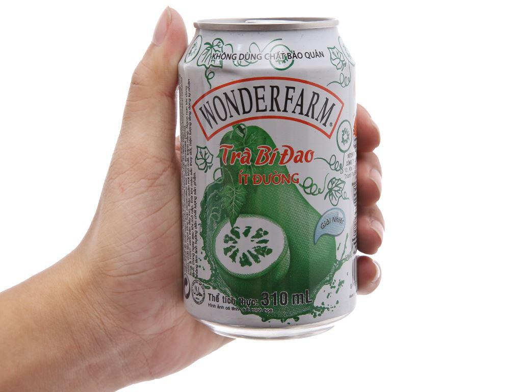 Thùng 24 lon trà bí đao Wonderfarm ít đường 310ml 4