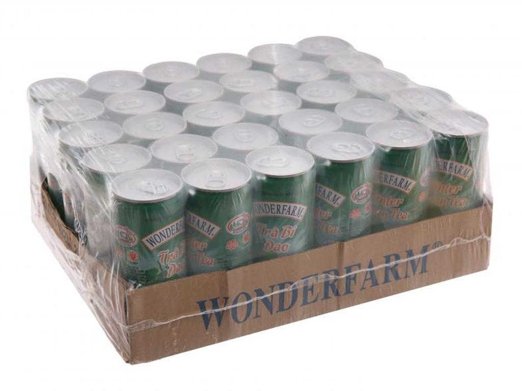 30 lon trà bí đao Wonderfarm trà bí đao 240ml 1