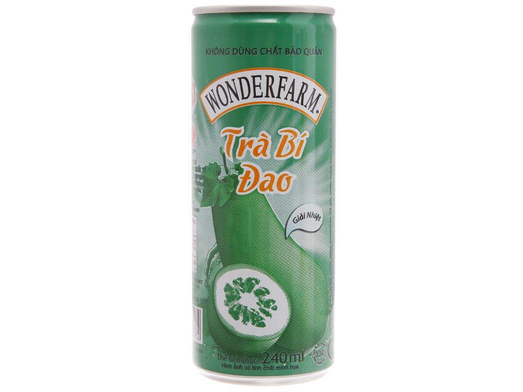 30 lon trà bí đao Wonderfarm trà bí đao 240ml 2