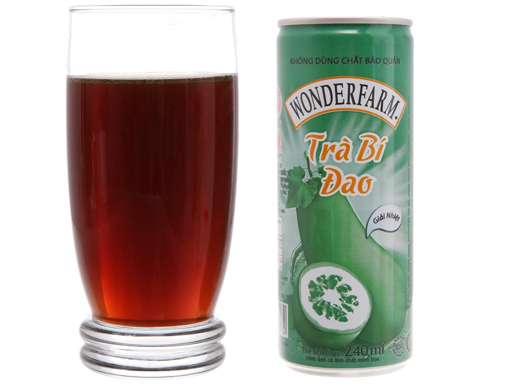 30 lon trà bí đao Wonderfarm trà bí đao 240ml 3