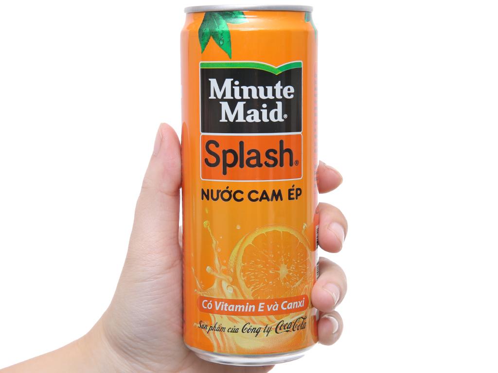 Nước cam ép Minute Maid Splash 330ml 3