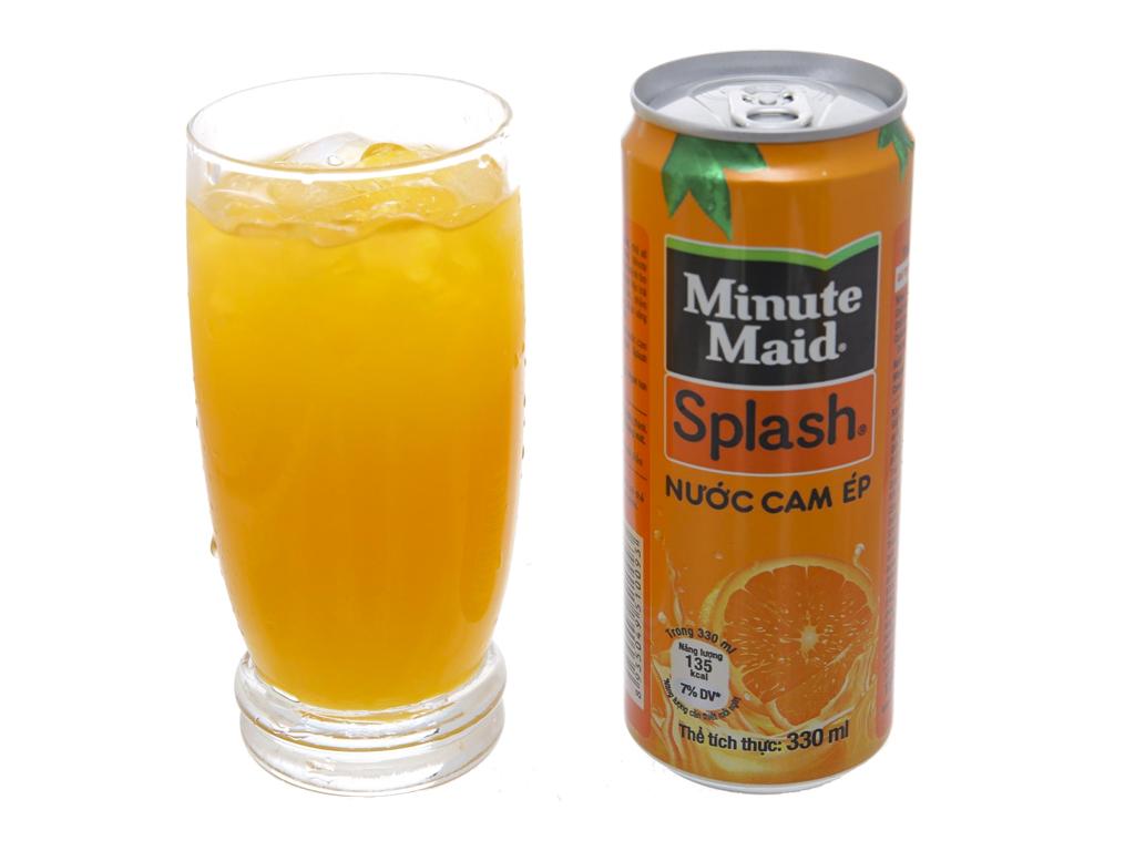 Nước cam ép Minute Maid Splash 330ml 4