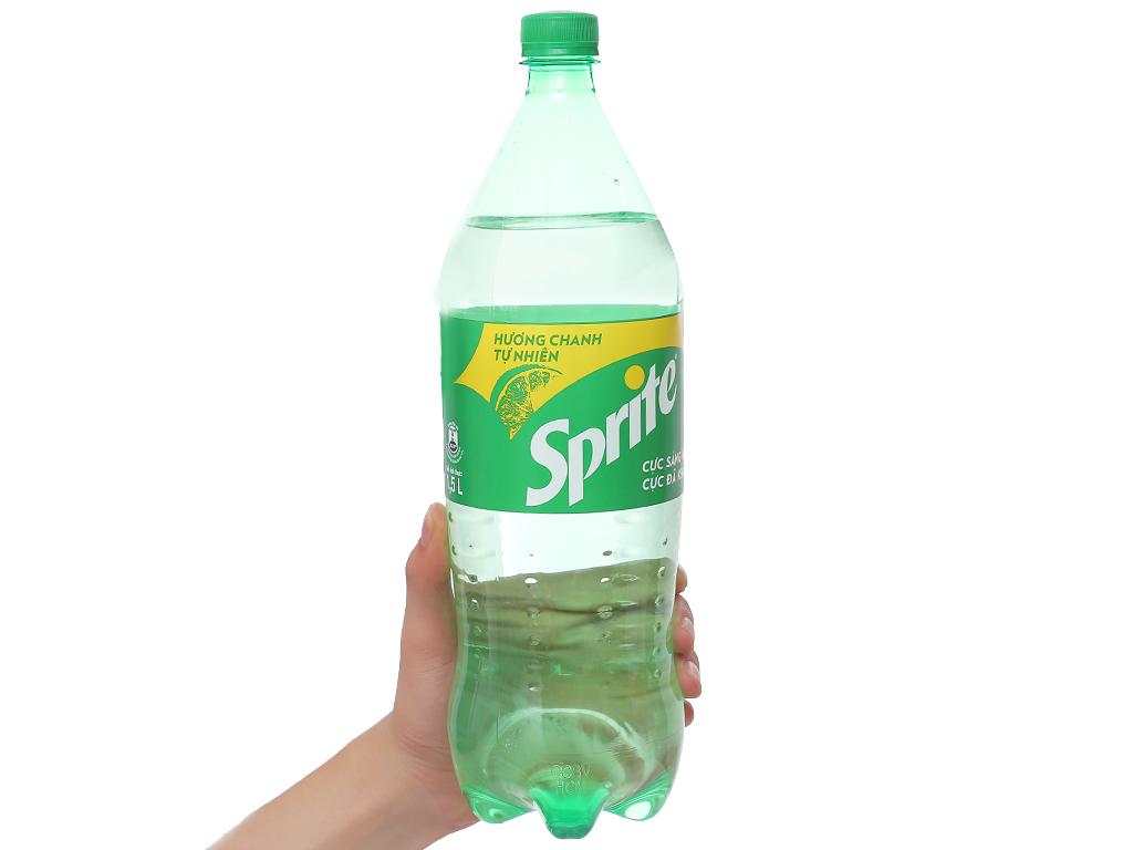 6 chai nước ngọt Sprite vị chanh 1.5 lít 3
