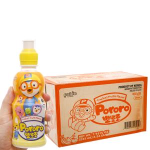 Thùng 24 chai nước trái cây Pororo vị trái cây 235ml