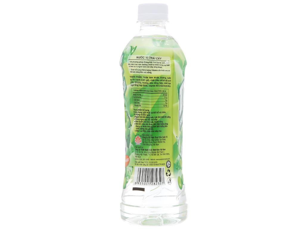 6 chai nước trái cây Ice+ vị nho xanh 490ml 3
