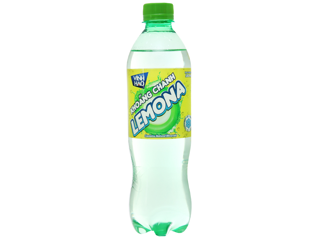 6 chai nước khoáng có ga Vĩnh Hảo Lemona vị chanh 500ml 1