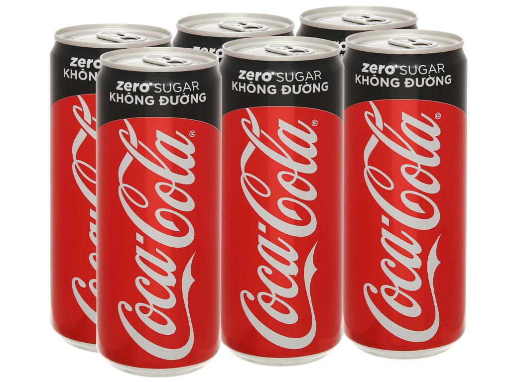 6 lon nước ngọt Coca Cola Zero 320ml 2