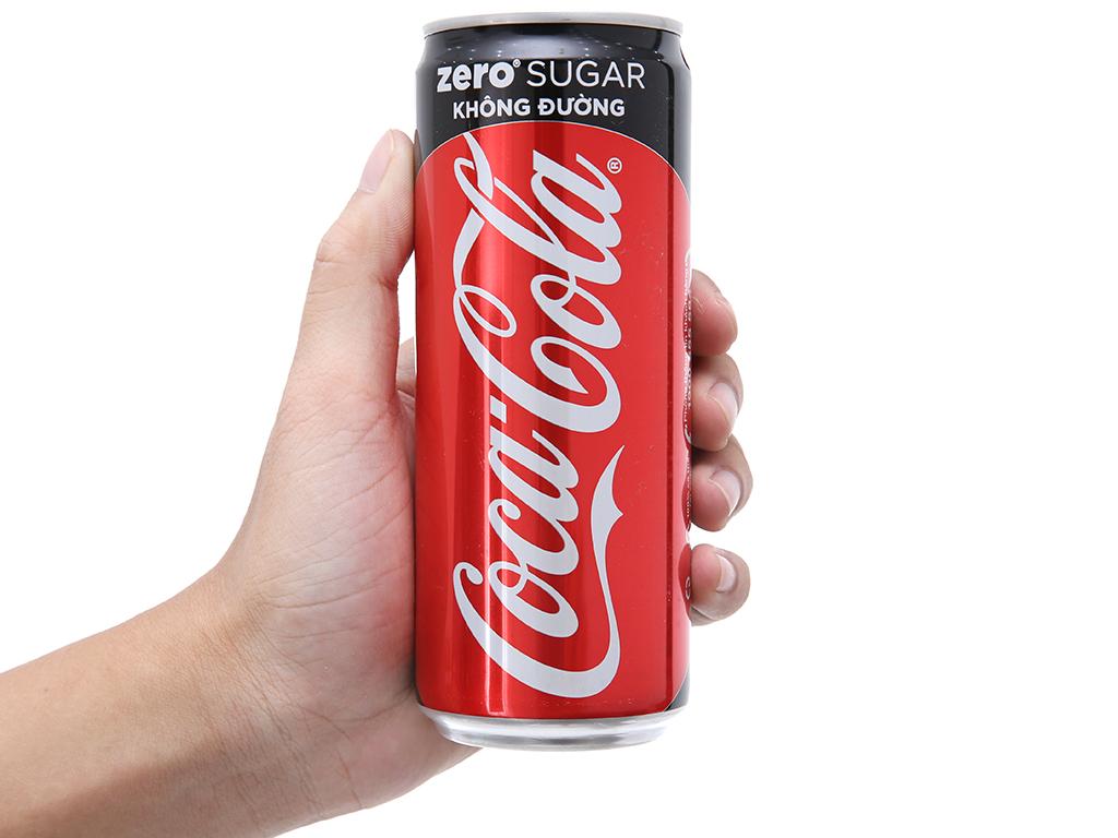 6 lon nước ngọt Coca Cola Zero 330ml 3