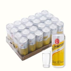 24 lon nước giải khát có gas Schweppes Tonic 330ml