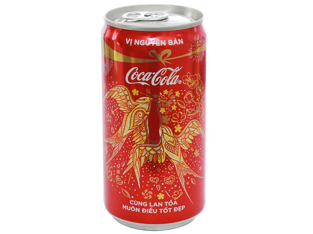 6 lon nước ngọt Coca Cola 250ml 1