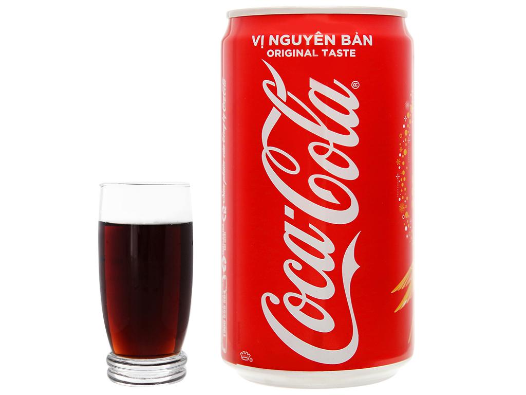 6 lon nước ngọt Coca Cola 250ml 8