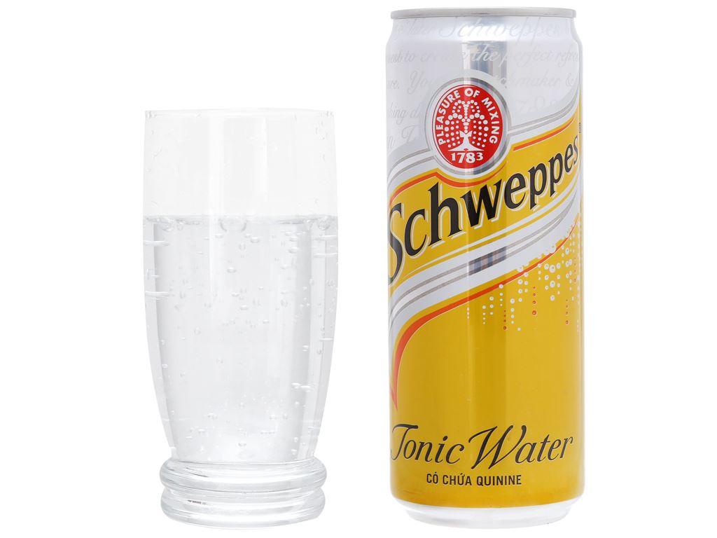 6 lon nước giải khát có gas Schweppes Tonic 330ml 4