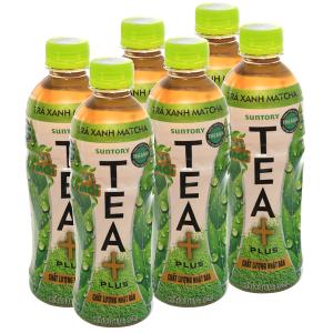 6 chai trà xanh matcha Tea Plus 350ml