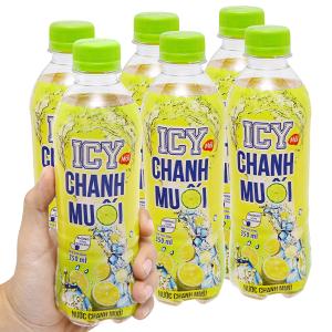 6 chai nước chanh muối ICY 350ml