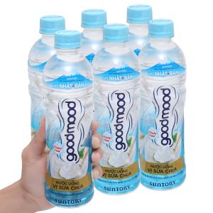 6 chai nước uống Good Mood vị sữa chua 455ml