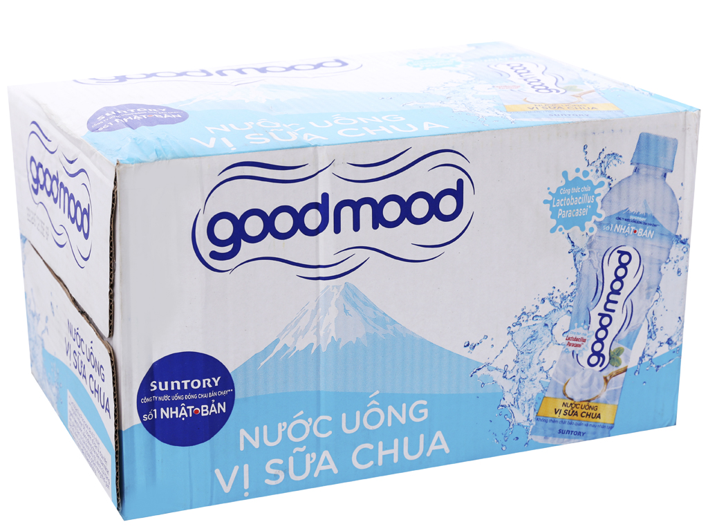 24 chai nước uống Good Mood vị sữa chua 455ml 1