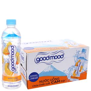 24 chai nước uống Good Mood vị cam 455ml