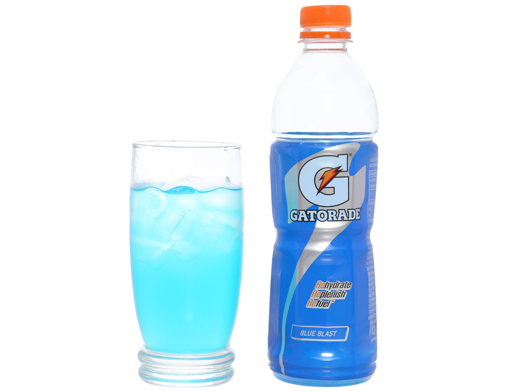 6 chai nước uống điện giải Gatorade vị Blue Blast 500ml 3