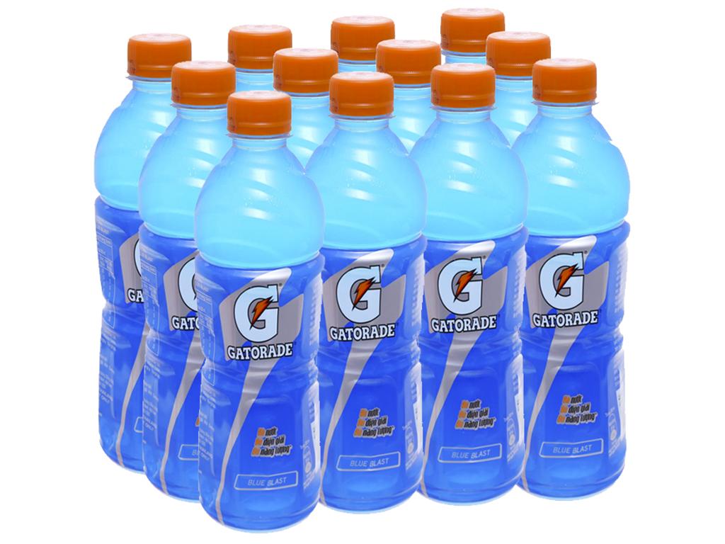 12 chai nước uống điện giải Gatorade vị Blue Blast 500ml 1