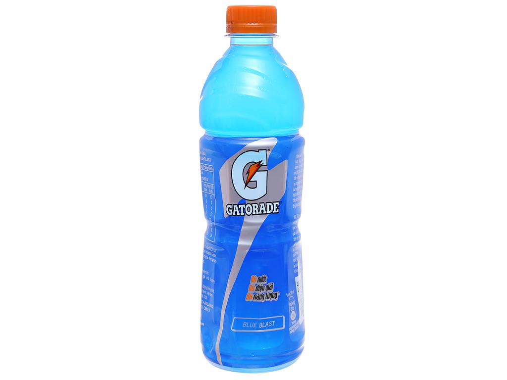12 chai nước uống điện giải Gatorade vị Blue Blast 500ml 2