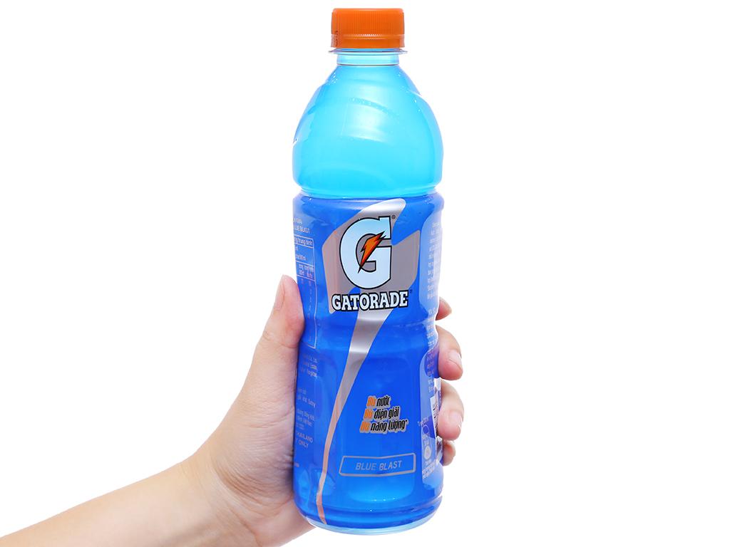 12 chai nước uống điện giải Gatorade vị Blue Blast 500ml 4