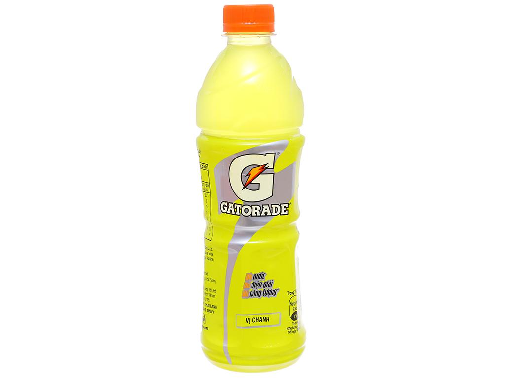 Nước uống điện giải Gatorade vị chanh 500ml 1