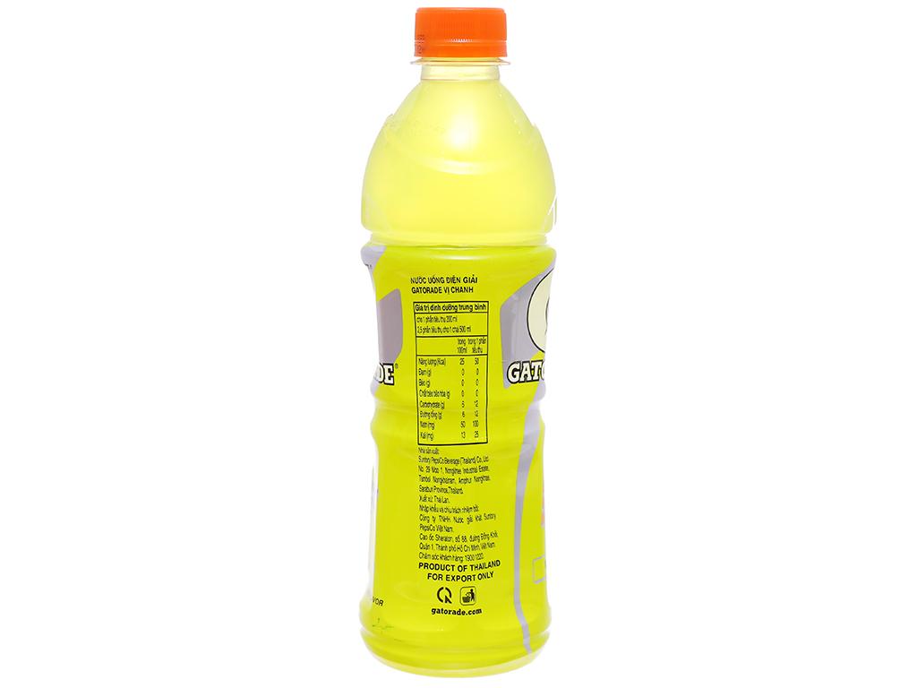 Nước uống điện giải Gatorade vị chanh 500ml 2
