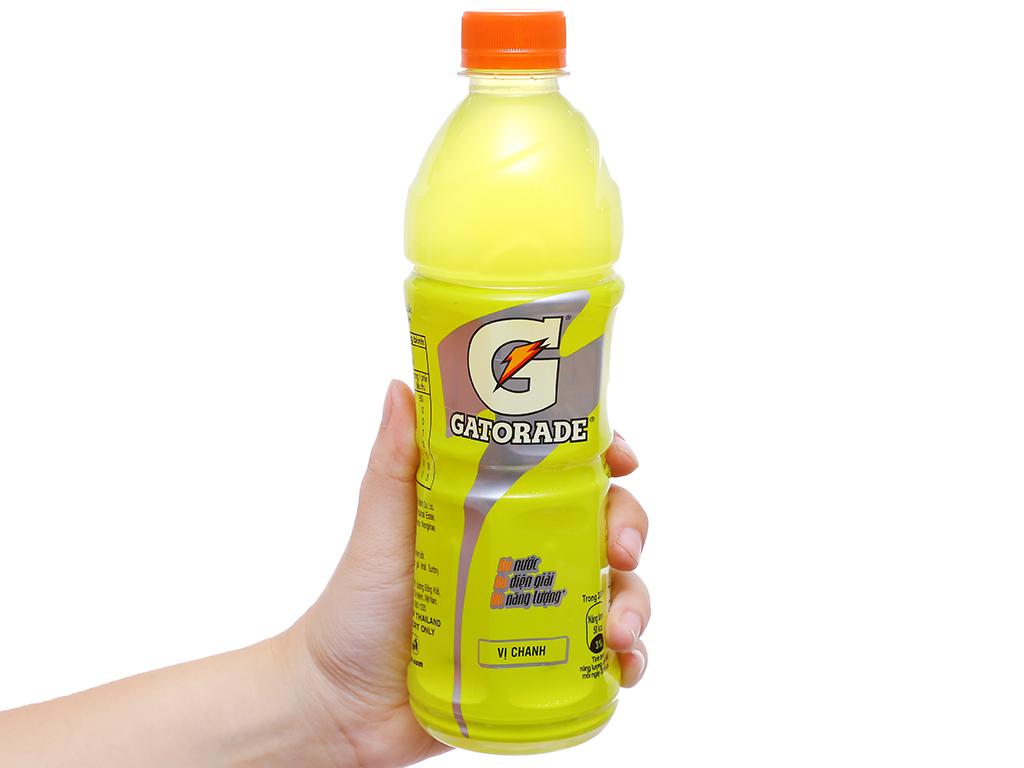 Nước uống điện giải Gatorade vị chanh 500ml 3