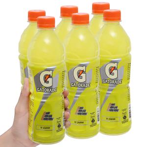 6 chai nước uống điện giải Gatorade vị chanh 500ml