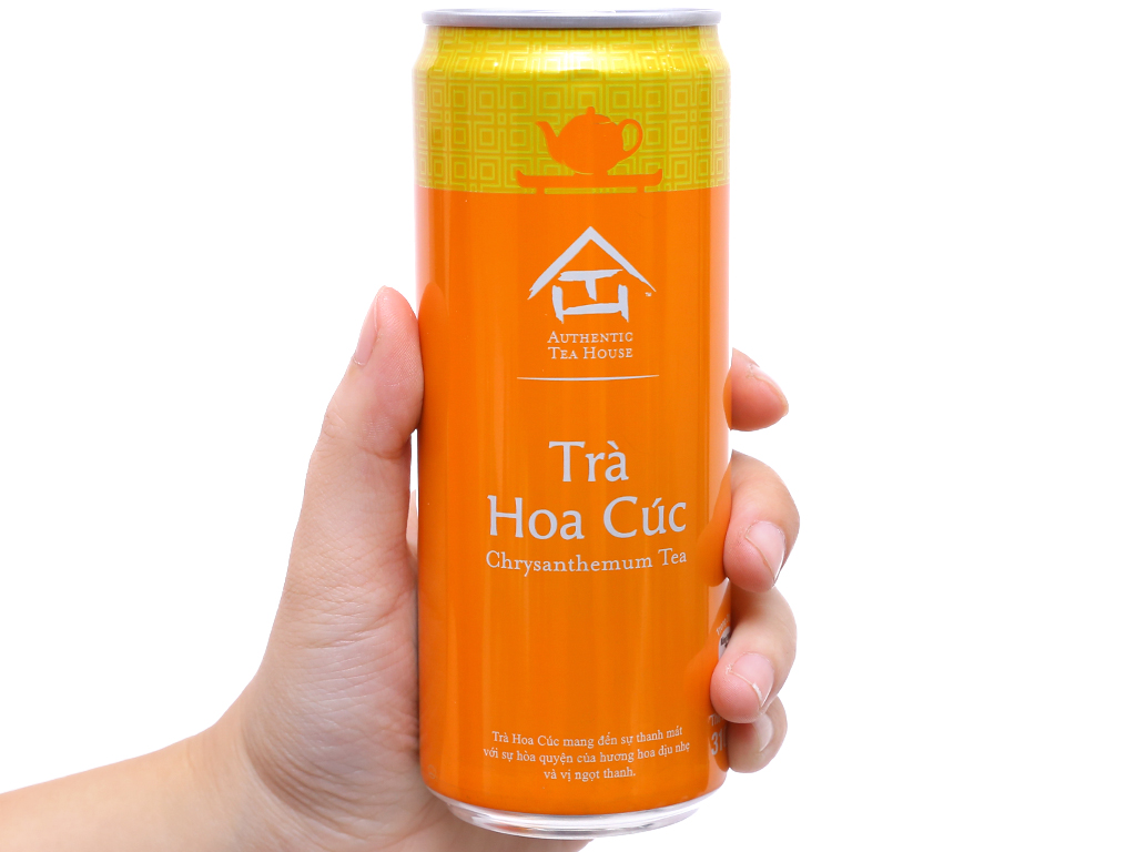 6 lon trà hoa cúc Authentic Tea House 310ml 5